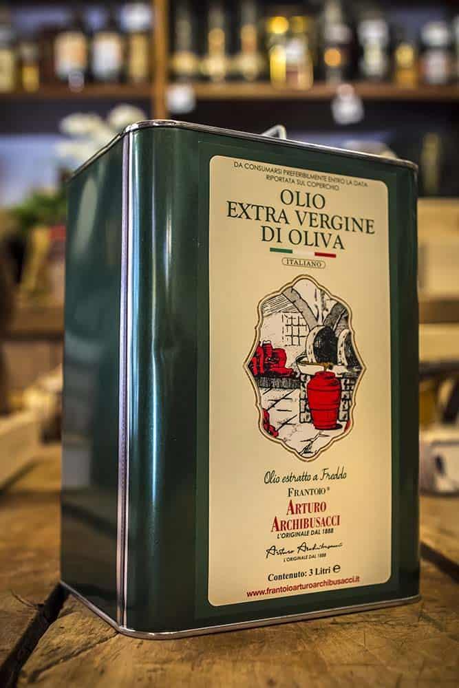 Enoteca Scaloni Olio d'oliva EVO Frantoio Archibusacci Olio di Canino 3 Litri in latta