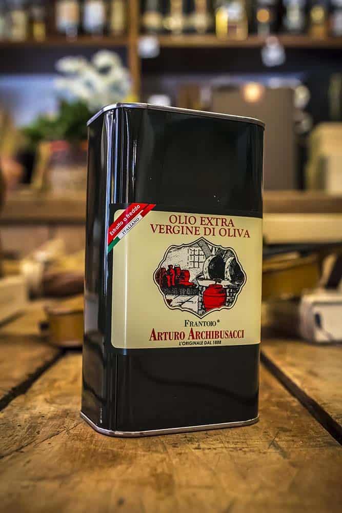 Enoteca Scaloni Olio d'oliva EVO Frantoio Archibusacci Olio di Canino 1 Litro in latta