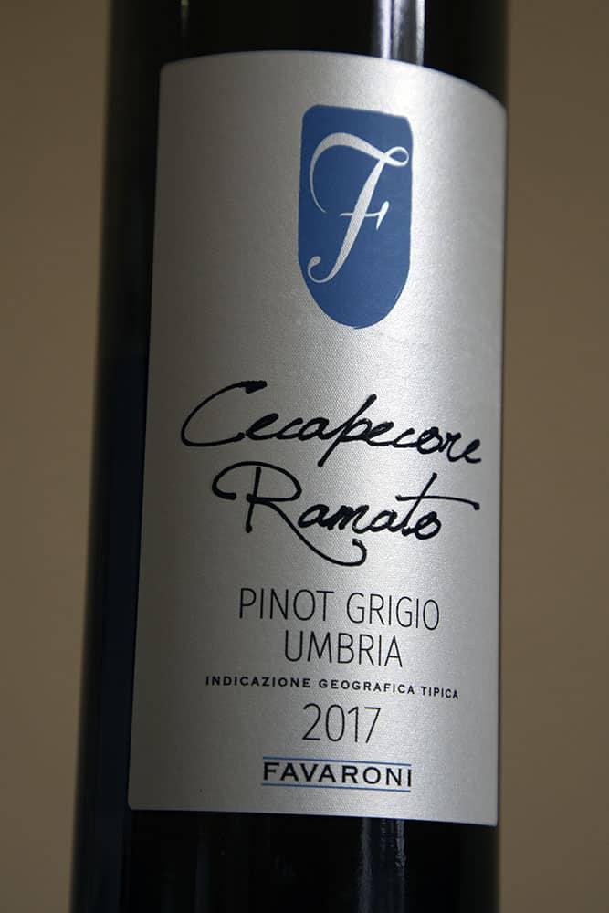 Pinot Grigio Umbria 2017, Renato Cecapecore, Favaroni